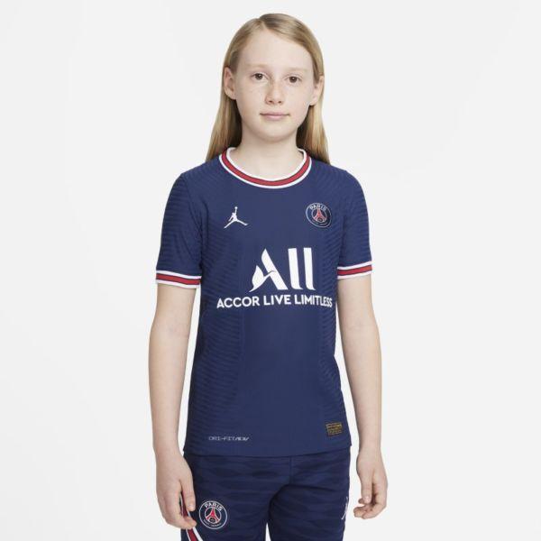 Primera equipación Match París Saint-Germain 2021/22 Camiseta de fútbol Nike Dri-FIT ADV - Niño/a - Azul