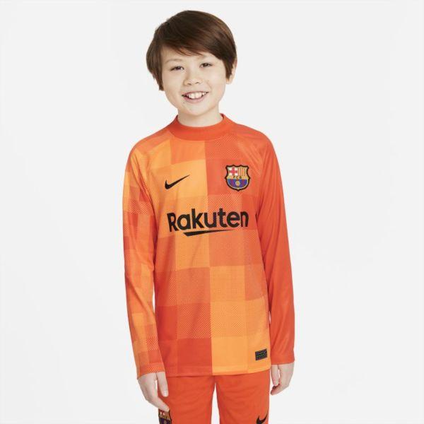 Equipación de portero Stadium FC Barcelona 2021/22 Camiseta de fútbol de manga larga - Niño/a - Naranja