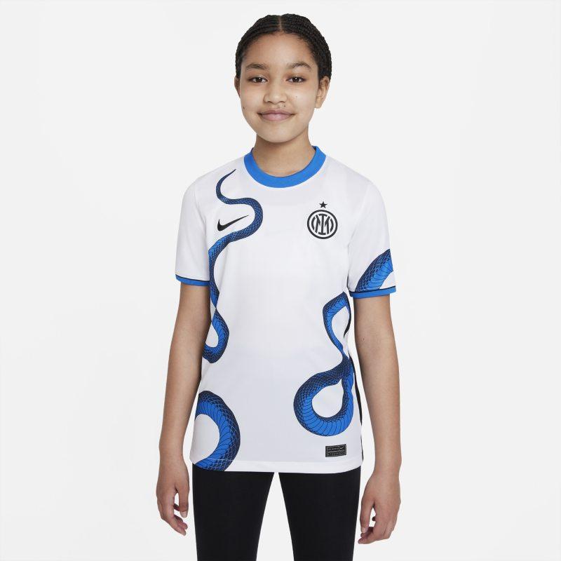 Segunda equipación Stadium Inter de Milán 2021/22 Camiseta de fútbol Nike Dri-FIT - Niño/a - Blanco