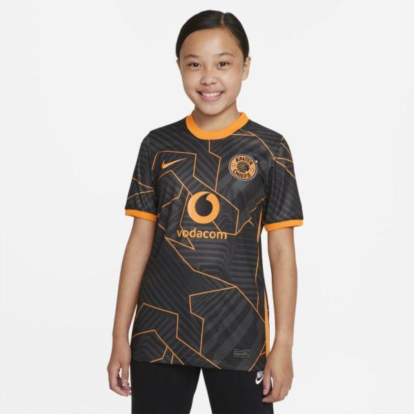 Segunda equipación Stadium Kaizer Chiefs FC 2021/22 Camiseta de fútbol Nike Dri-FIT - Niño/a - Negro