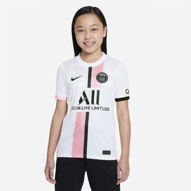 Segunda equipación Stadium París Saint-Germain 2021/22 Camiseta de fútbol Nike Dri-FIT - Niño/a - Blanco