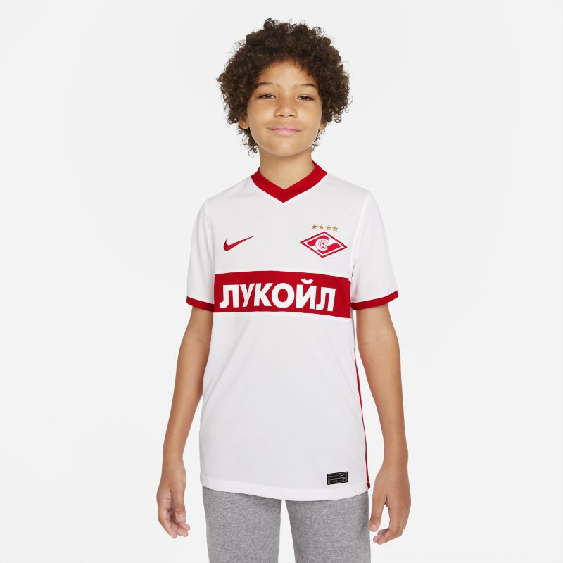 Segunda equipación Stadium Spartak de Moscú 2021/22 Camiseta de fútbol Nike Dri-FIT - Niño/a - Blanco