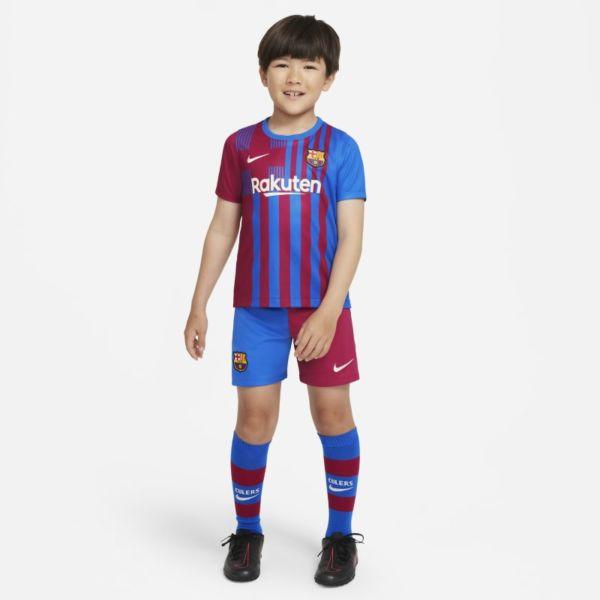 Primera equipación FC Barcelona 2021/22 Equipación de fútbol - Niño/a pequeño/a - Azul