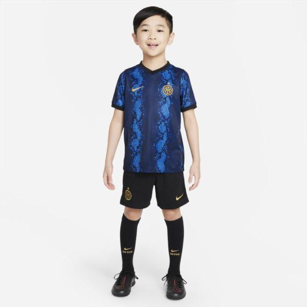Inter Milan 2021/22 Home Equipación de fútbol - Niño/a pequeño/a - Azul