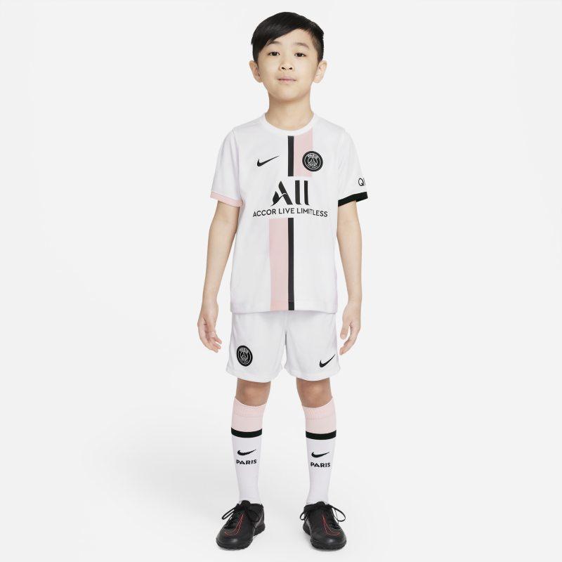 Segunda equipación París Saint-Germain 2021/22 Equipación de fútbol - Niño/a pequeño/a - Blanco