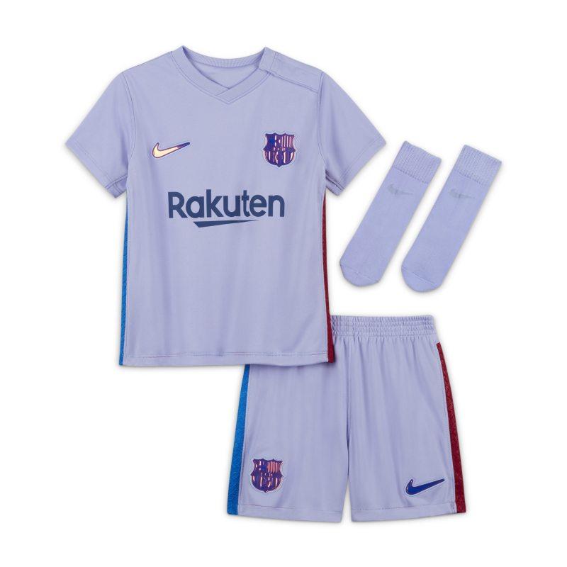 Segunda equipación FC Barcelona 2021/22 Equipación de fútbol - Bebé e infantil - Morado