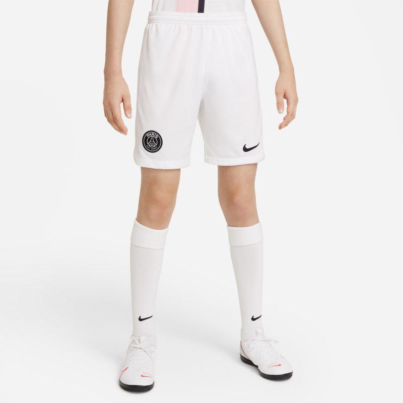 Segunda equipación Stadium París Saint-Germain 2021/22 Pantalón corto de fútbol Nike Dri-FIT - Niño/a - Blanco