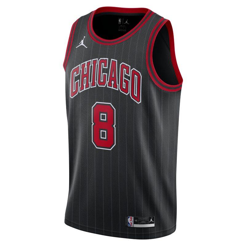 Zach LaVine Bulls Statement Edition 2020 Camiseta de la NBA Jordan Swingman - Negro