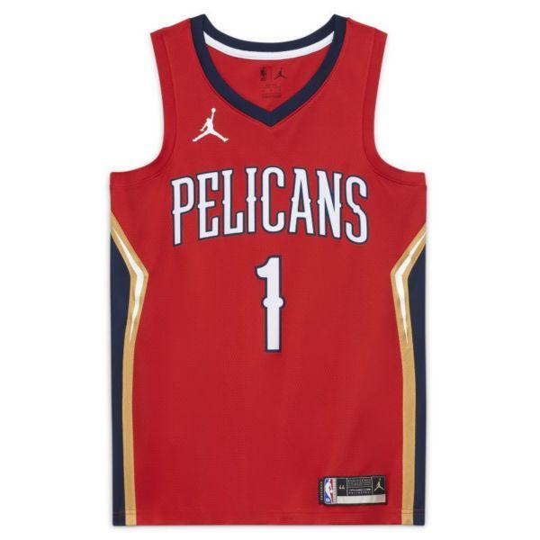 New Orleans Pelicans Statement Edition 2020 Camiseta Swingman Jordan de la NBA - Rojo