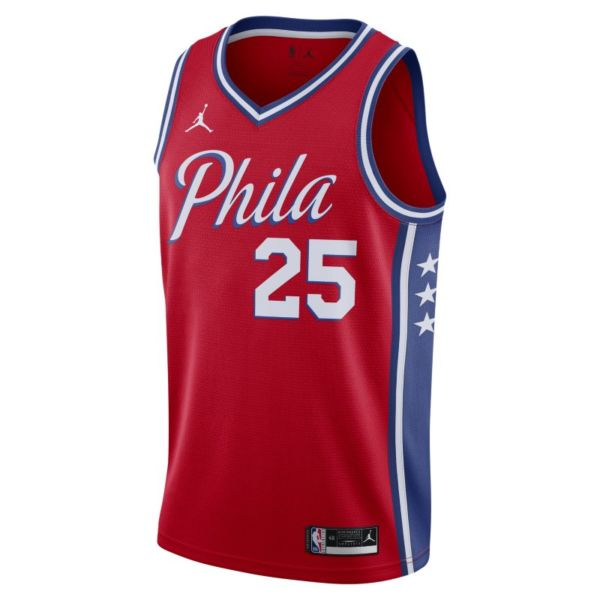 Ben Simmons 76ers Statement Edition 2020 Camiseta Jordan NBA Swingman - Rojo