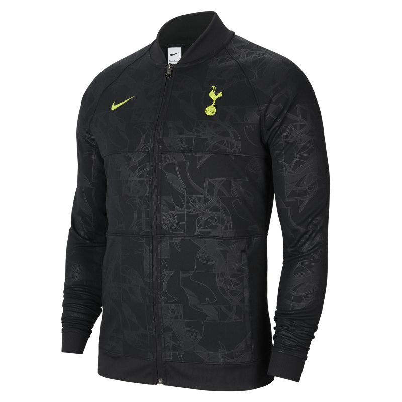 Tottenham Hotspur Chaqueta de fútbol con cremallera completa - Hombre - Negro