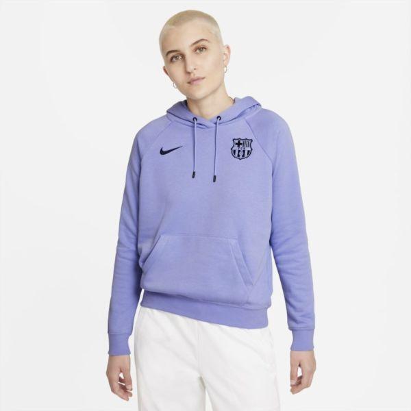 FC Barcelona Sudadera con capucha de tejido Fleece - Mujer - Morado