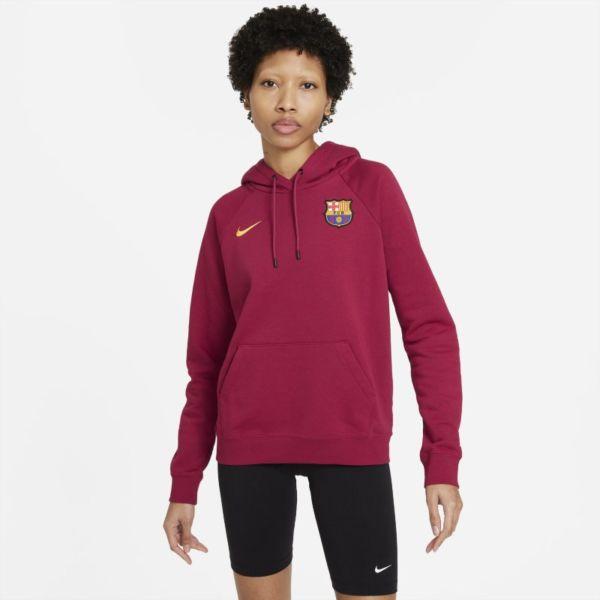FC Barcelona Sudadera con capucha de tejido Fleece - Mujer - Rojo