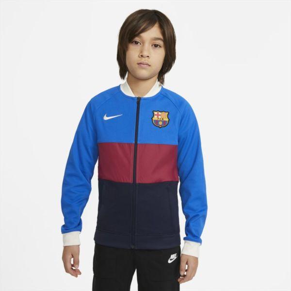 FC Barcelona Chaqueta deportiva de fútbol con cremallera completa - Niño/a - Azul