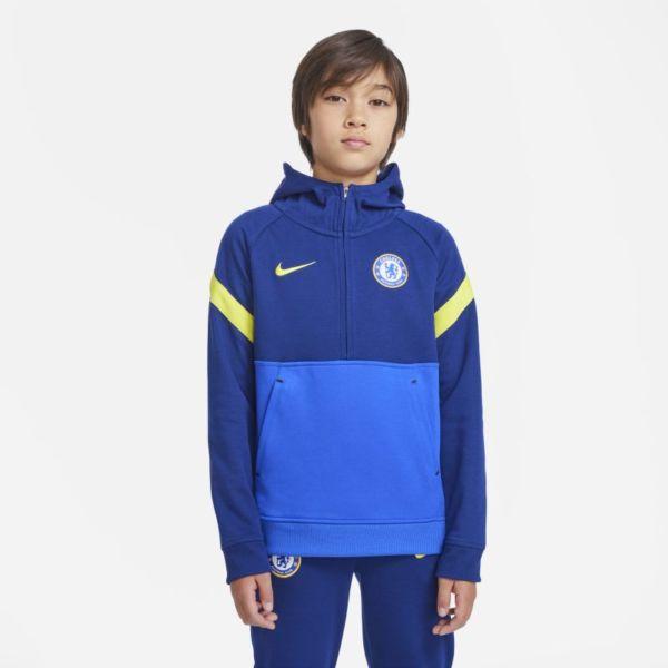 Chelsea FC Sudadera con capucha de fútbol Nike Dri-FIT - Niño/a - Azul