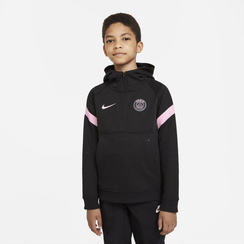 París Saint-Germain Sudadera con capucha de fútbol Nike Dri-FIT - Niño/a - Negro