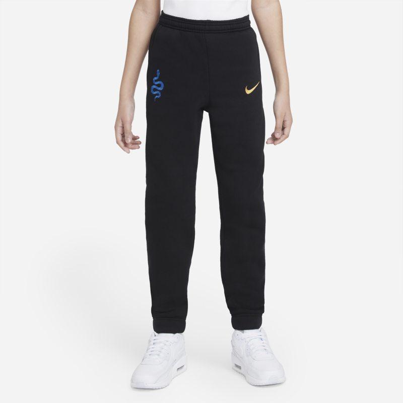 Inter de Milán Pantalón de tejido Fleece de fútbol - Niño/a - Negro