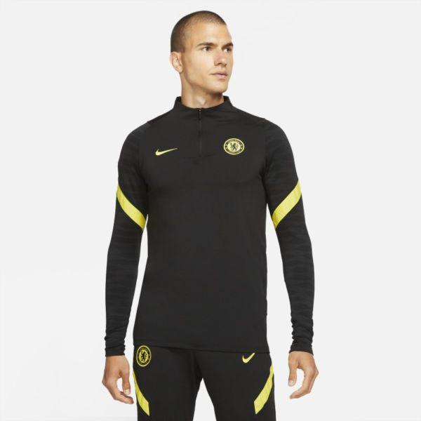 Chelsea FC Strike Camiseta de entrenamiento de fútbol Nike Dri-FIT - Hombre - Negro