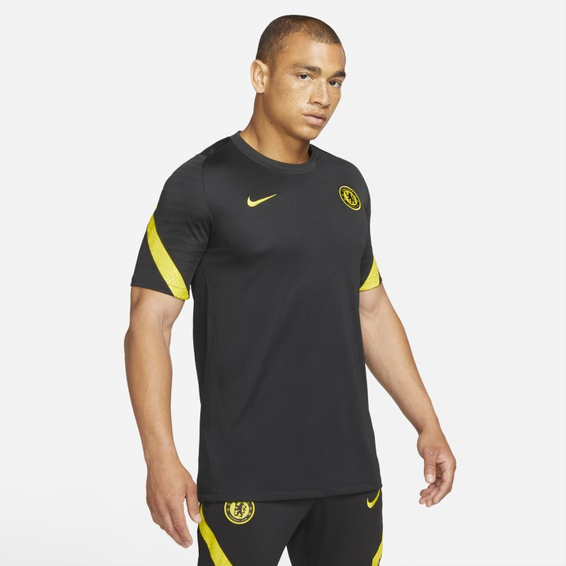 Chelsea FC Strike Camiseta de fútbol de manga corta Nike Dri-FIT - Hombre - Negro