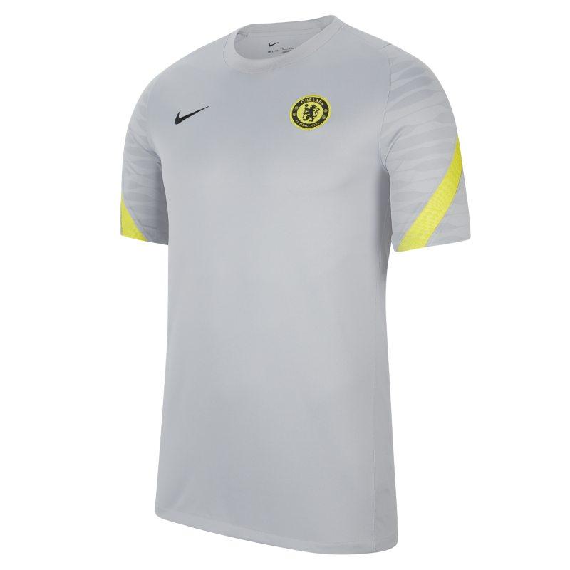 Chelsea FC Strike Camiseta de fútbol de manga corta Nike Dri-FIT - Hombre - Gris