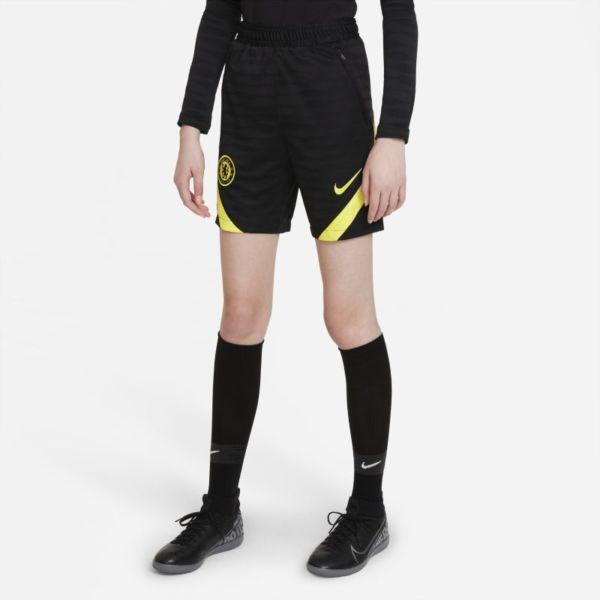 Chelsea FC Strike Pantalón corto de fútbol Nike Dri-FIT - Niño/a - Negro
