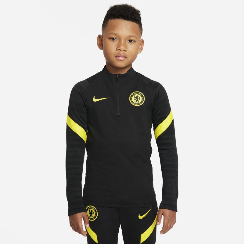 Chelsea FC Strike Camiseta de fútbol de entrenamiento Nike Dri-FIT - Niño/a - Negro