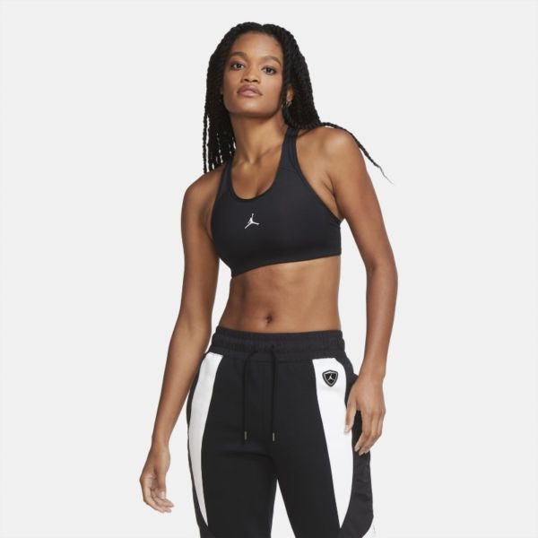 Jordan Jumpman Sujetador deportivo de sujeción media con almohadilla de una sola pieza - Mujer - Negro