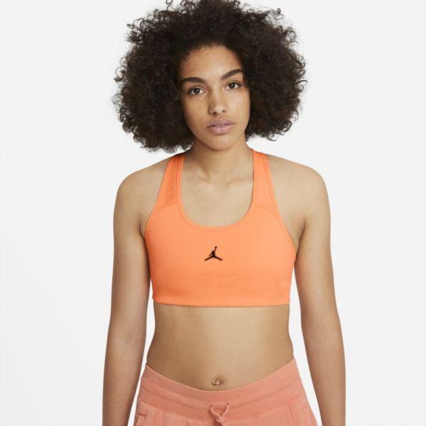 Jordan Jumpman Sujetador deportivo de sujeción media con almohadilla de una sola pieza - Mujer - Naranja