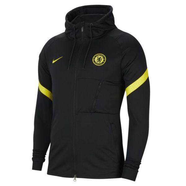 Chelsea FC Strike Chaqueta deportiva de fútbol de tejido Knit Nike Dri-FIT - Hombre - Negro