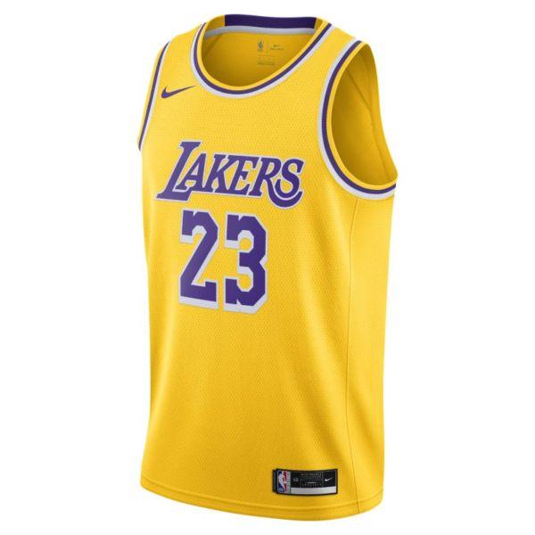 LeBron James Lakers Icon Edition 2020 Camiseta Nike NBA Swingman - Amarillo