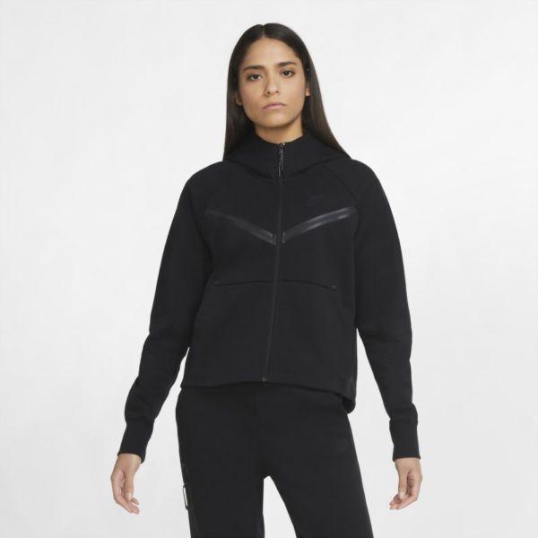 Nike Sportswear Tech Fleece Windrunner Sudadera con capucha con cremallera completa - Mujer - Negro