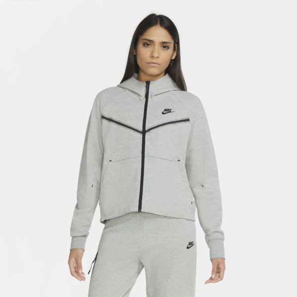Nike Sportswear Tech Fleece Windrunner Sudadera con capucha con cremallera completa - Mujer - Gris