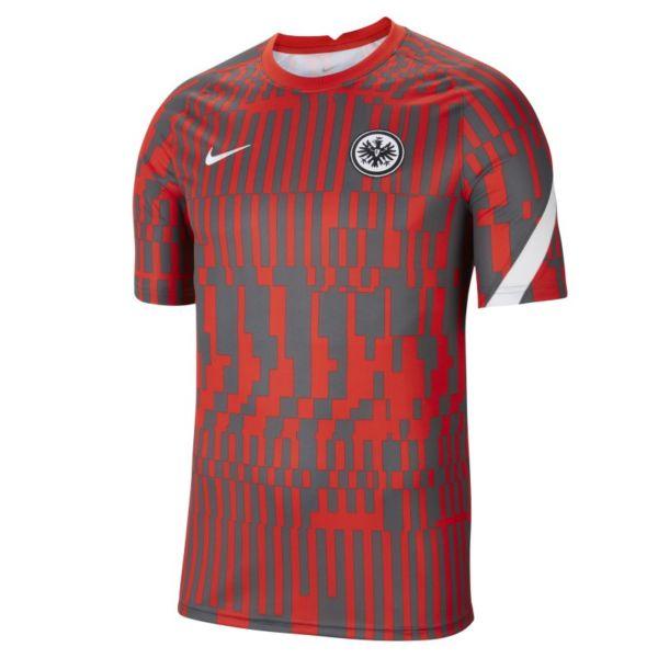 Eintracht de Fráncfort Camiseta de fútbol de manga corta para antes del partido - Hombre - Rojo