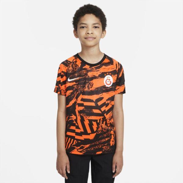 Galatasaray Camiseta de manga corta de fútbol para antes de los partidos - Niño/a - Naranja