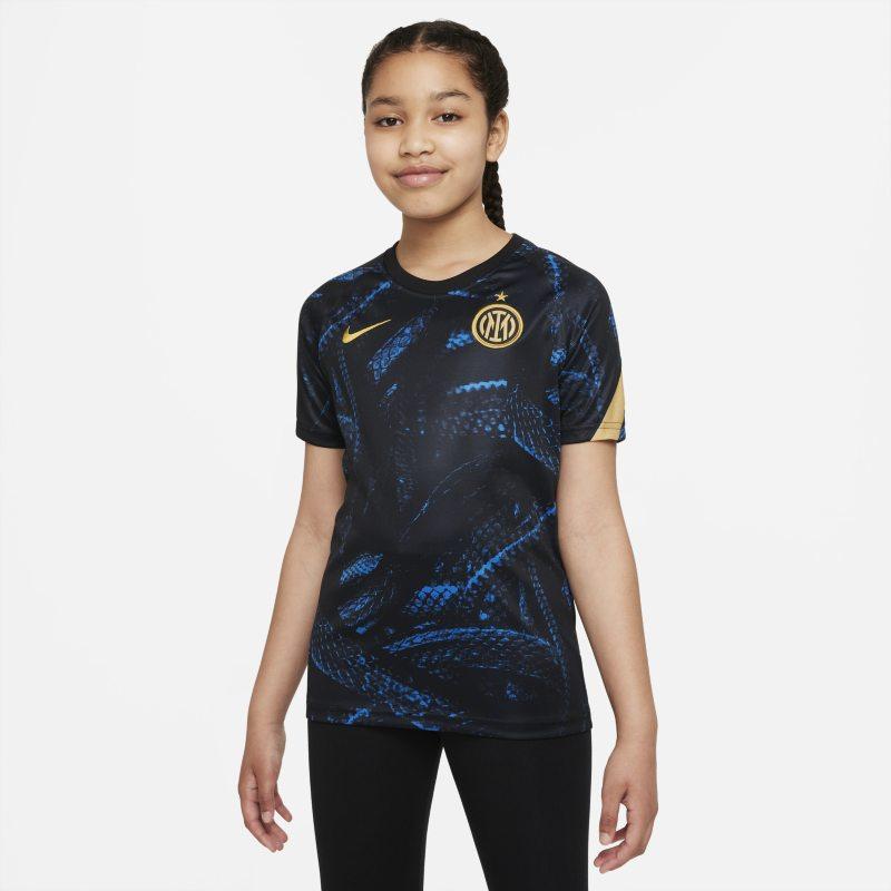 Inter de Milán Camiseta de fútbol para antes del partido Nike Dri-FIT - Niño/a - Azul