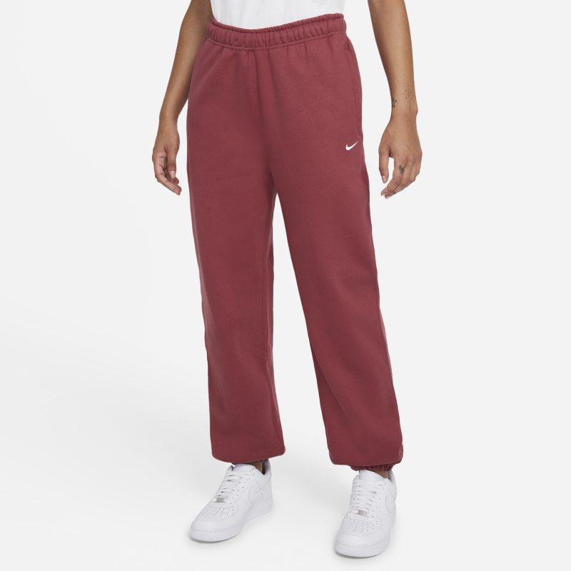 NikeLab Pantalón de tejido Fleece - Mujer - Rojo