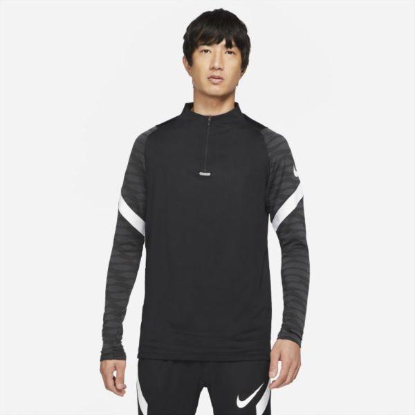 Nike Dri-FIT Strike Camiseta de fútbol de entrenamiento con cremallera de 1/4 - Hombre - Negro