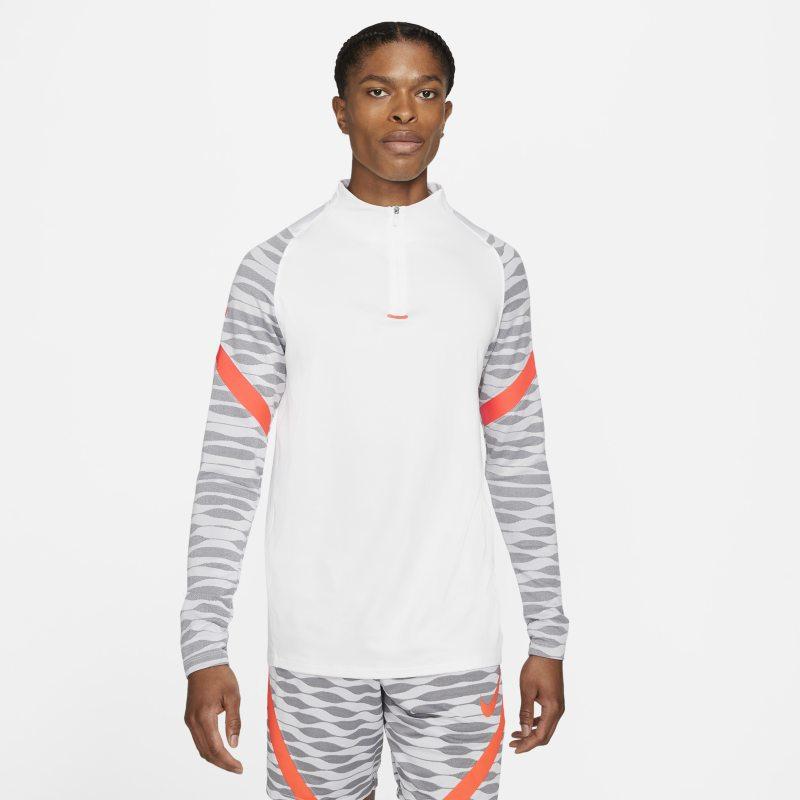 Nike Dri-FIT Strike Camiseta de fútbol de entrenamiento con cremallera de 1/4 - Hombre - Blanco