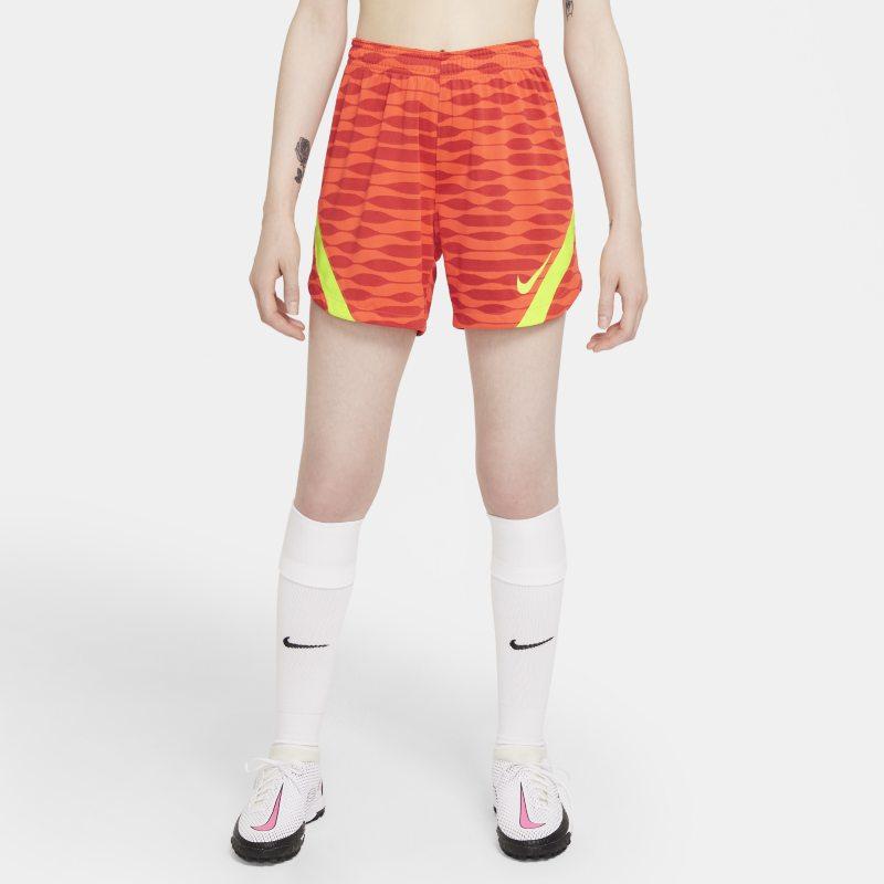 Nike Dri-FIT Strike Pantalón corto de fútbol de tejido Knit - Mujer - Rojo