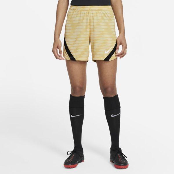 Nike Dri-FIT Strike Pantalón corto de fútbol de tejido Knit - Mujer - Amarillo