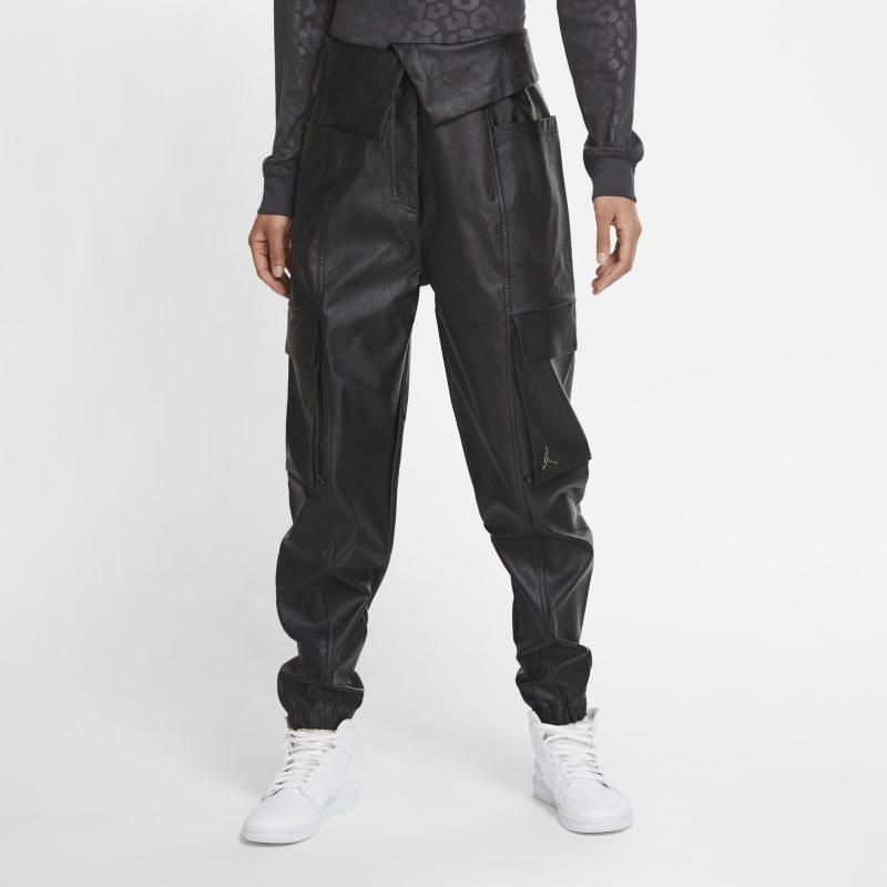 Jordan Court-To-Runway Pantalón funcional de piel sintética - Mujer - Negro