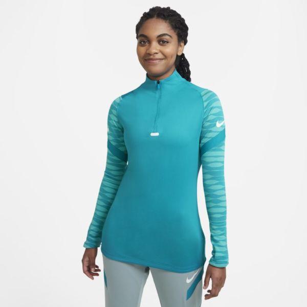 Nike Dri-FIT Strike Camiseta de fútbol de entrenamiento con cremallera de 1/4 - Mujer - Azul