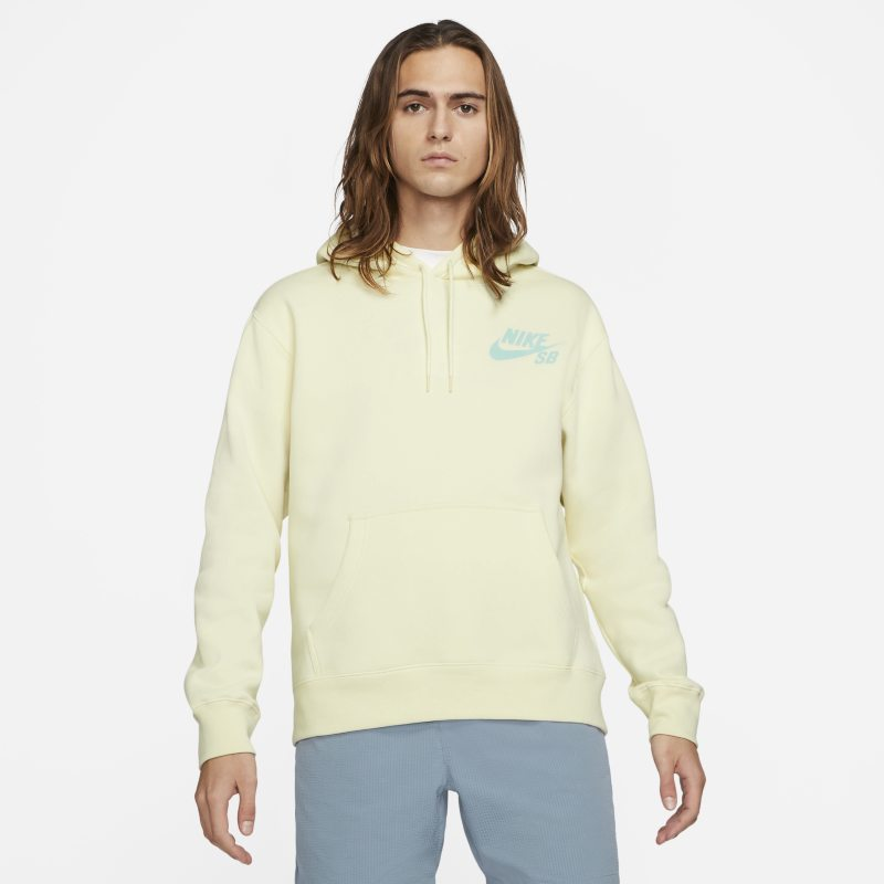 Nike SB Icon Sudadera con capucha de skateboard - Blanco