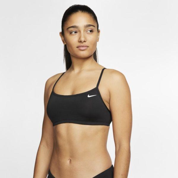 Nike Essential Parte de arriba de bikini con espalda cruzada - Mujer - Negro