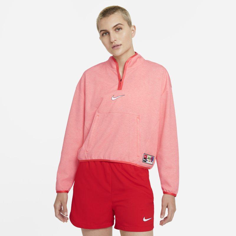 Nike F.C. Dri-FIT Chaqueta con cremallera de 1/4 - Mujer - Naranja