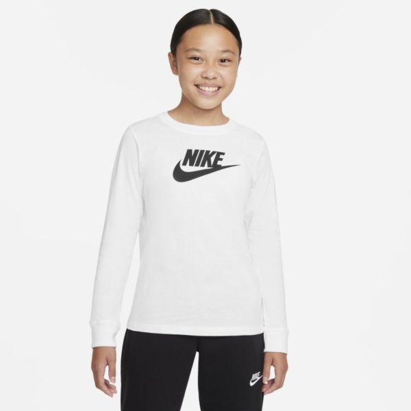 Nike Sportswear Camiseta de manga larga - Niña - Blanco