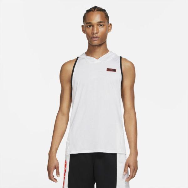 Nike Sport Clash Sudadera con capucha de entrenamiento sin mangas - Hombre - Blanco