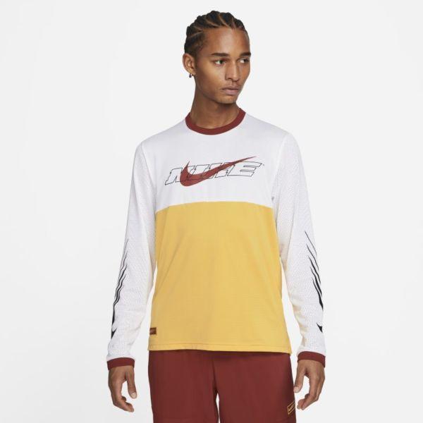 Nike Sport Clash Camiseta de entrenamiento de manga larga - Hombre - Amarillo