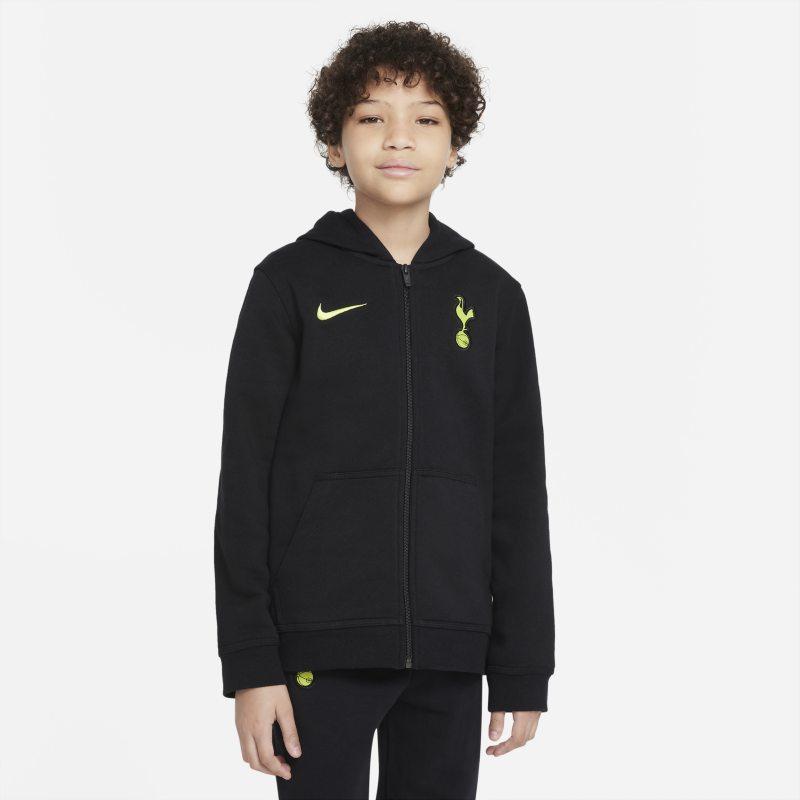 Tottenham Hotspur Sudadera con capucha y cremallera completa de tejido Fleece - Niño/a - Negro