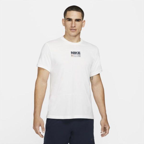 Nike Dri-FIT Camiseta de entrenamiento de manga corta con estampado - Hombre - Blanco